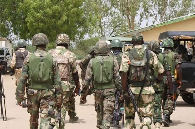 Drama As Angry Nigerian Soldiers Shoot Into The Air To Protest Poor Equipment, Unpaid Allowances In Borno