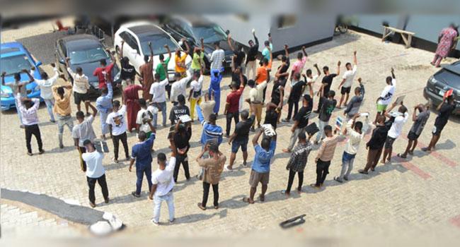 EFCC Arrests 57 Suspected Internet Fraudsters In Ogun, Recovers Two Pump Action Rifles 1