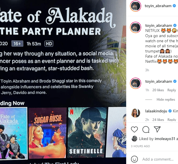 Fans React As Toyin Abraham's Movie 'Fate of Alakada' Premieres On Netflix