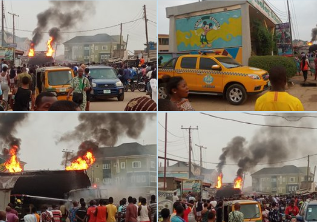 Fire Engulfs NNPC Petrol Station In Alagbole Area Of Ogun State [Video]