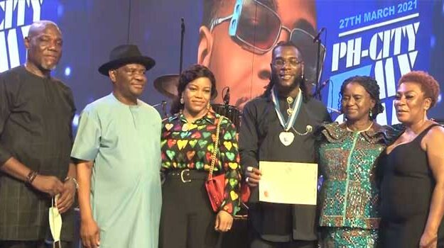 Grammys: Wike bestows rivers second highest award on Burna Boy