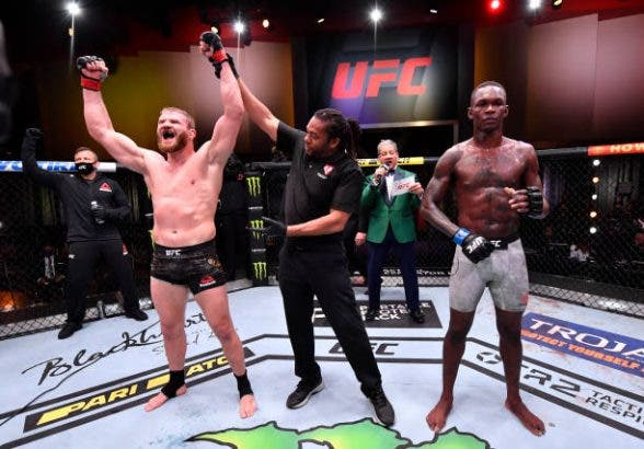 Adesanya lost his first career match against Blachowicz