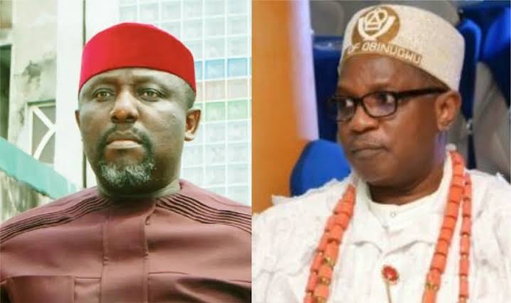 Imo Monarch Allegedly Attacks Rochas Okorocha With His Walking Stick Inside An Airplane 1