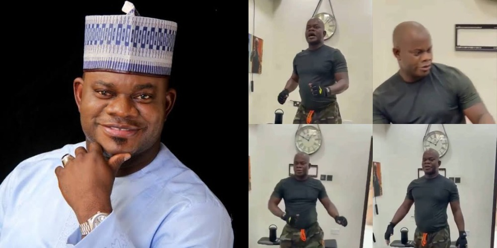 Kogi Governor, Yahaya Bello Seen Dancing To 'APC Song' During His Workout [Video] 1