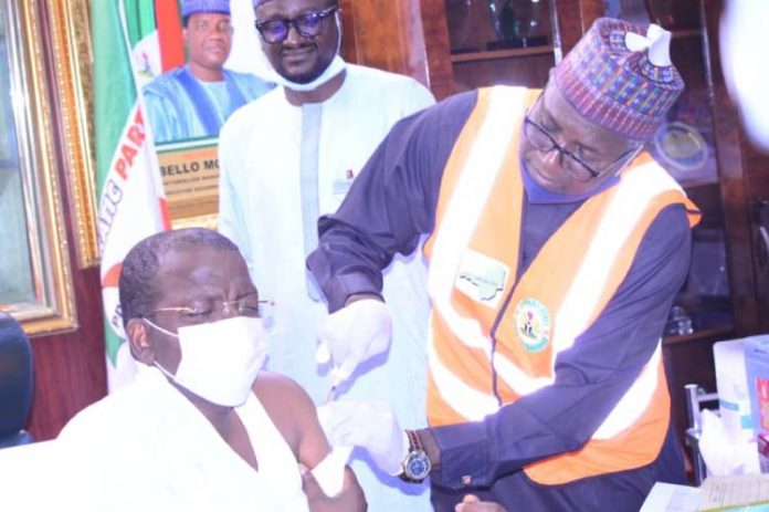 Matawalle receives first dose of COVID-19 vaccine in Gusau