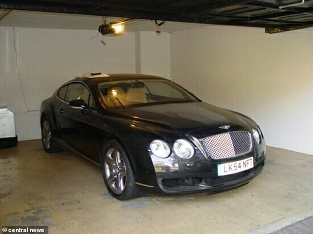 Ibori was given a 13-year prison sentence in April 2012 after he pleaded guilty to 10 criminal charges over the appropriation of massive amounts of public funds during his two terms as governor of Delta State. Pictured: A Bentley owned by Ibori