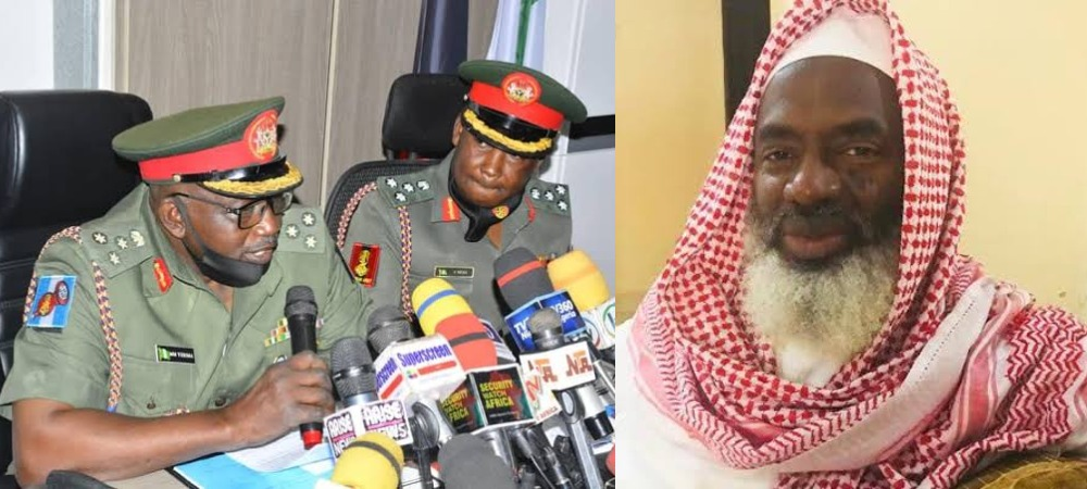 Nigerian Army Slams Sheikh Gumi For Saying 'Christian Soldiers Behind Attacks On Bandits' 1