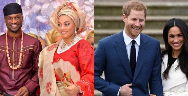 Nigerians Compare Peter Okoye To Prince Harry Who's Standing Up For His Wife, Meghan Markle