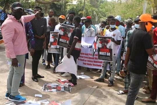 Northern Youths Storms Streets Of Abuja To Demand Buhari's Resignation [Photos/Video] 4