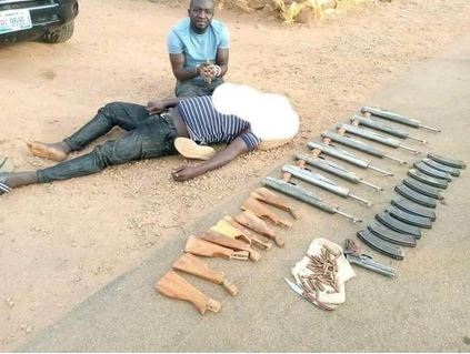 Notorious Gunrunners Who Supply Firearms To Bandits In The North Arrested By The Police (Photo)