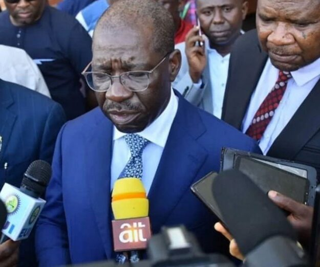 Obaseki meets Oshiomhole in Auchi, says no personal grudges with predecessor