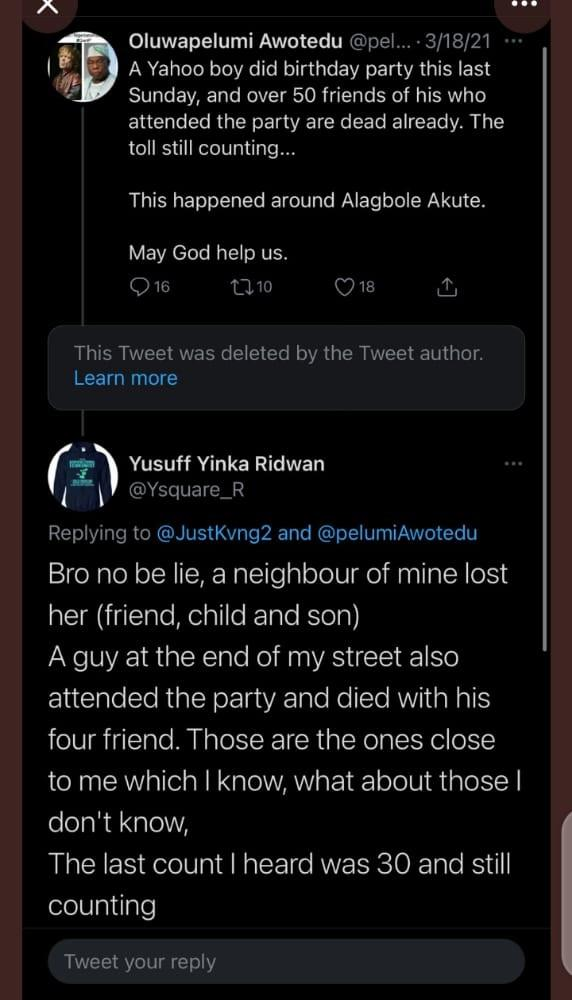Over 50 Friends Allegedly Dies Mysteriously After Attending Yahoo Boy's Birthday In Ogun 3