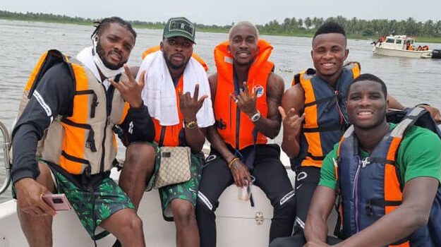 Photo: Eagles enjoying Lagos waterways on their way back from Benin Republic