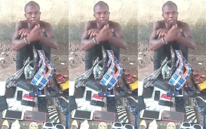 Police Arrests Serial Rapist With 9 Female Handbags, 13 Sim Cards, 9 Phones In Delta 1