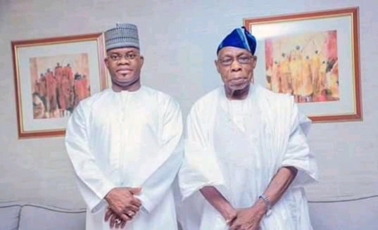 Presidency 2023: Gov Yahaya Bello runs to Abeokuta, seeks Obasanjo's endorsement