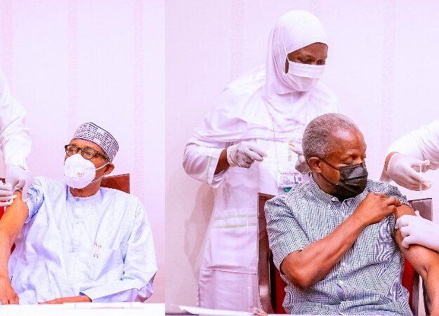 President Buhari And VP Osinbajo Receives AstraZeneca COVID-19 Vaccine Shots [Photos]