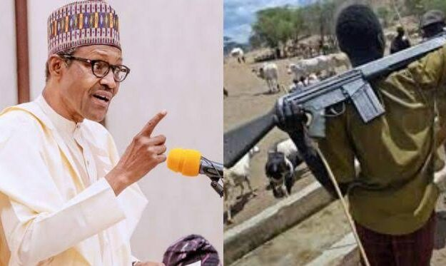 President Buhari Directs Security Agents To Shoot Anyone Seen With Guns Like AK-47