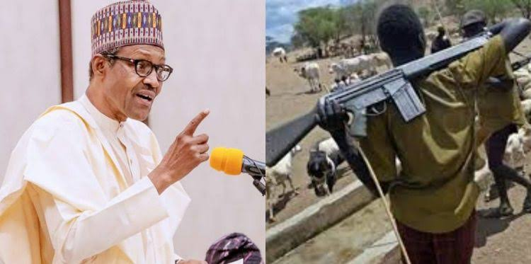 President Buhari Directs Security Agents To Shoot Anyone Seen With Guns Like AK-47 1