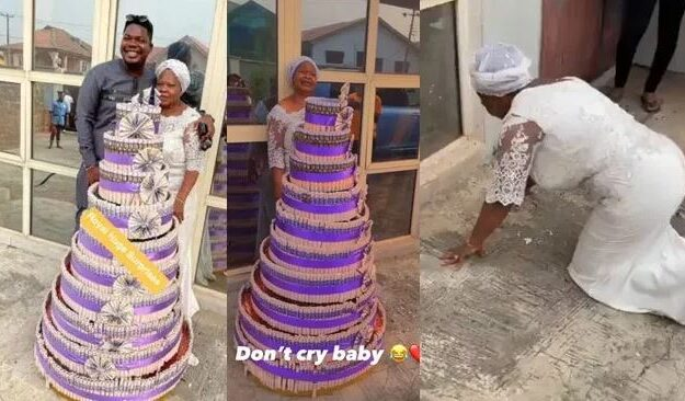 See How Mr Macaroni Made His Mother Cry On Her Birthday
