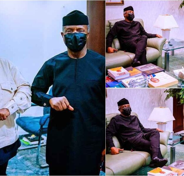 Singer Teni Visits Vice President Yemi Osibanjo In Aso Rock [Photos]