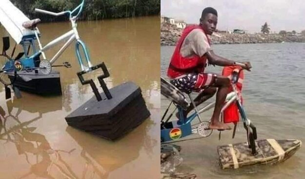 Student Builds Floating Bicycle For Kids Living In Riverine Areas [Photos]