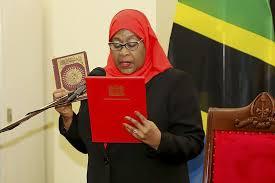 Suluhu Hassan sworn in as Tanzania's first female president