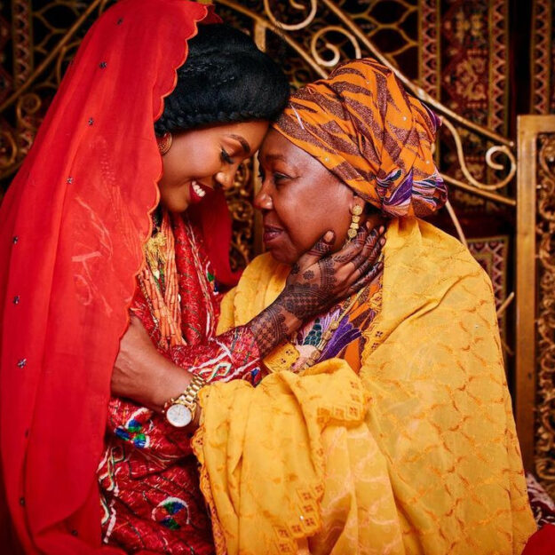 Touching Photos of a Nigerian Mother Crying During Her Only Child's Wedding