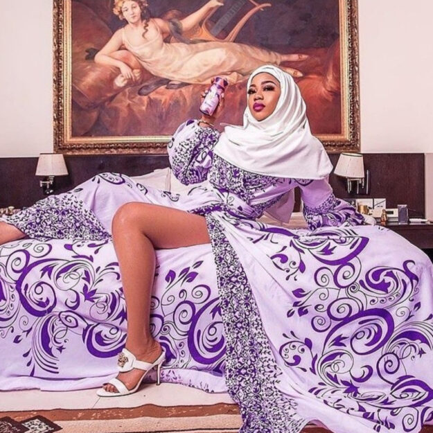 Toyin Lawani Shares Sexy Photo In Hijab After Being Dared Over Nun-themed Shoot