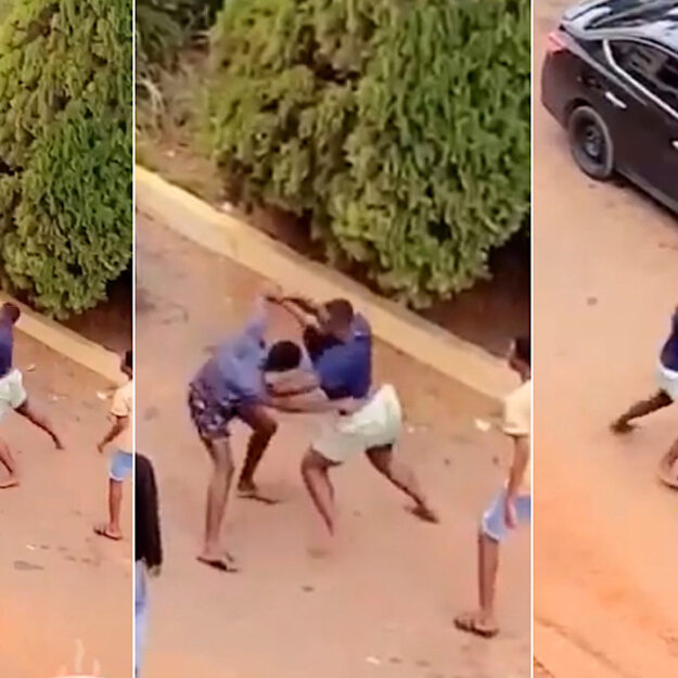 Two University Students Caught On Camera Fighting Publicly Over A Girl In Ghana [Video]
