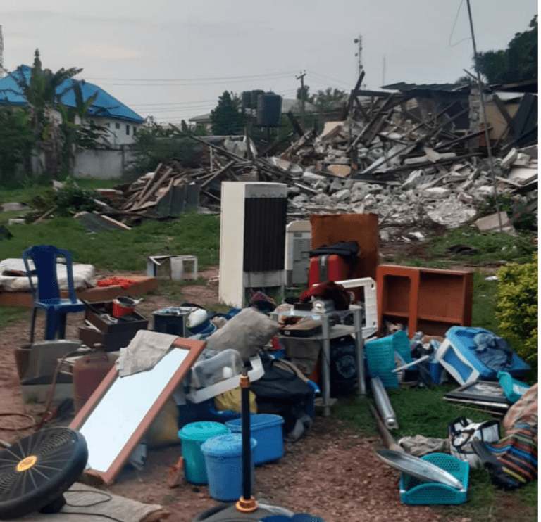 One of the houses of allies of Oshiomhole demolished by Obaseki