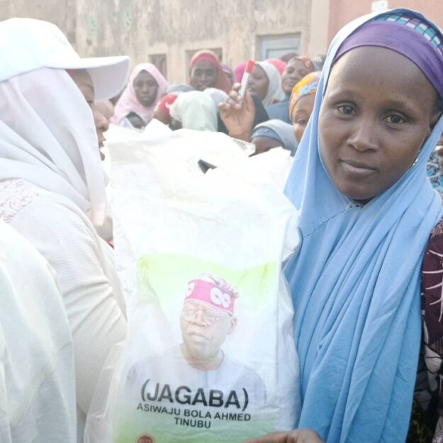 2023: Tinubu Begins Distribution Of Rice To Kano Residents (Photo)