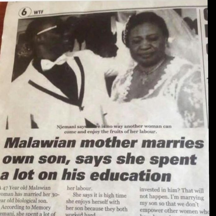 47-Year-Old Mother Marries Her Son Because 'She Spent A Lot Of Money On His Education' 2
