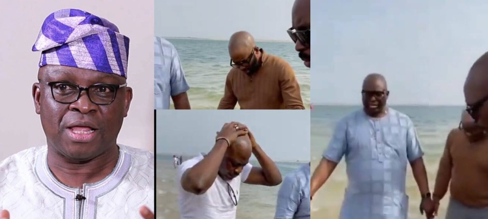 Ayodele Fayose And His Family Seen Publicly Praying At The Beach Against Evil Plans [Video] 1