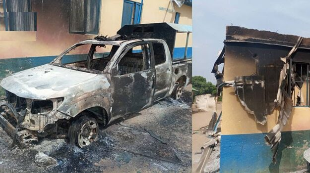Bandits take war to Aemt base, burn military camp, steal wares, kill one