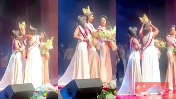 Beauty Queen Embarrassed On Stage As She Loses Her Crown Over Divorce Claim [Video]
