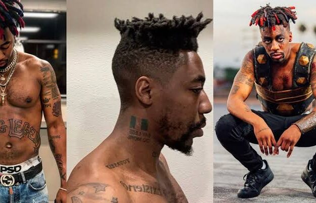 Canadian Rapper Dax Tattoos Nigerian Flag On His Neck, Reveals His Nationality [Photo]