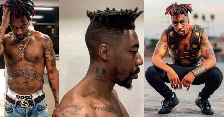 Canadian Rapper Dax Tattoos Nigerian Flag On His Neck, Reveals His Nationality [Photo] 1