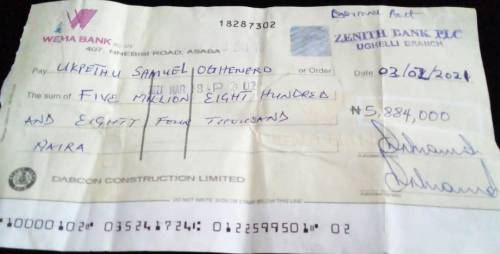 CEO Of Delta Contractor Company Goes On The Run Over N5.8 Million Dud Cheque