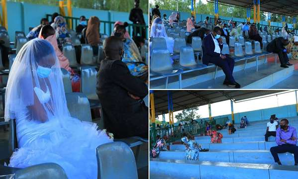 Couple And Guests Forced To Spend Wedding Night In Stadium For Breaking COVID-19 Rules