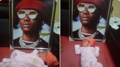 Die-hard Wizkid Fan Dedicates Newborn Baby To Singer