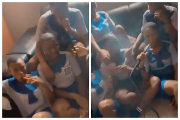 Disturbing Video of Young Schoolgirls Smoking Shisha