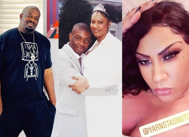 Don Jazzy's Ex-Wife, Michelle Reveals Why She Looks Taller Than Him In Their Wedding Photo