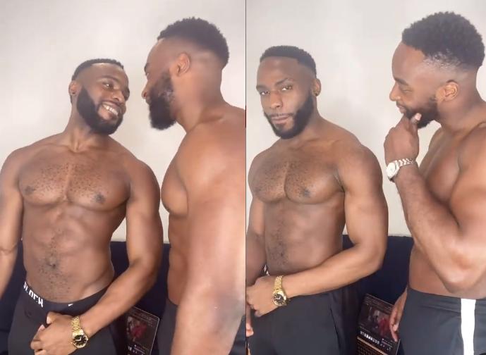 Doyin Okupe's Gay Son, Bolu Shares Loved-Up Video With His Handsome Boyfriend, Mfaomé 1