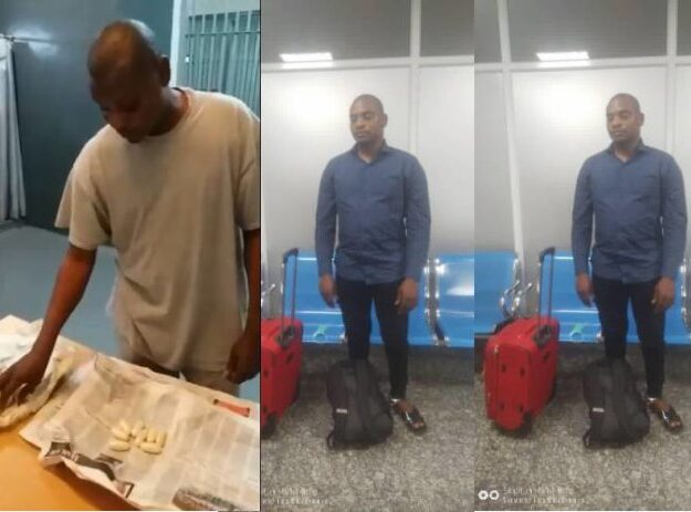 Drug Trafficker excretes 1.750kg Cocaine at Lagos Airport