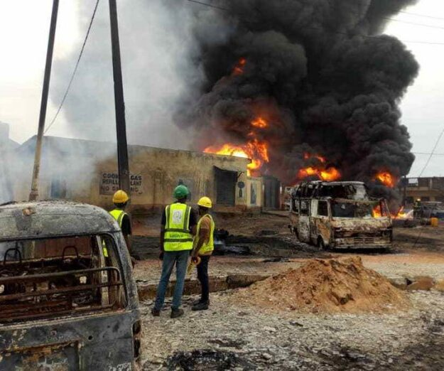 Gas explosion rocks Amuwo-Odofin area of Lagos