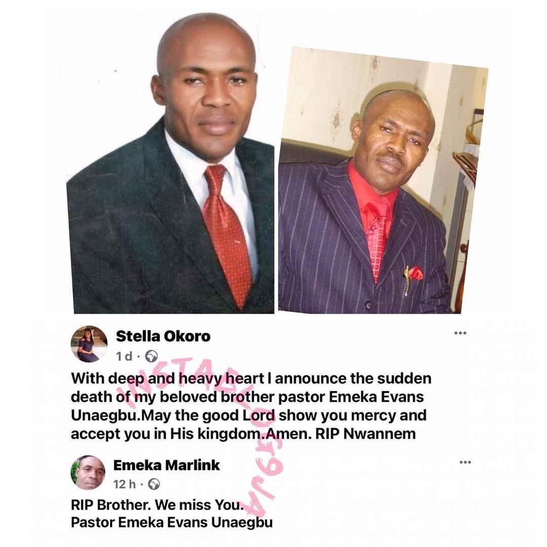 Gunmen Kills Pastor Emeka Evans Unaegbu During Night Vigil Inside His Church In Abuja 2