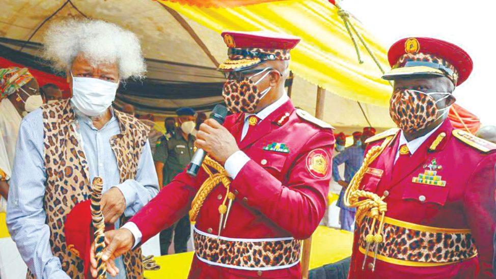 """If You Abuse Your Uniform, Ogun Will Strike You"" - Wole Soyinka Warns Amotekun Operatives 1"
