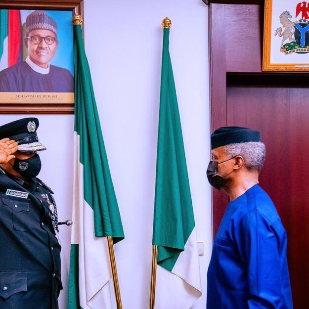 Insecurity: Osinbajo issues directives to new IGP, Usman Alkali Baba