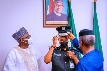 Insecurity: What Osinbajo told Baba after decorating him as new IGP