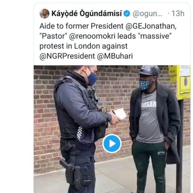 'Massive Protest Indeed' — El-Rufai Mocks Reno Omokri Over His Anti-Buhari Protest At Nigeria House, London